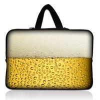 "14"" 14.1"" 14.4"" Beer Neoprene Soft Laptop Netbook Sleeve Bag Case Cover Pouch+Hide Handle For HP Dell Lenovo Sony"