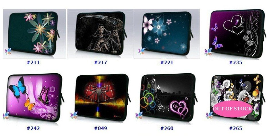 """Cool Design 10"""" 10.1"""" 10.2"""" Inch Netbook Bag Laptop Case Sleeve Pouch Cover"""