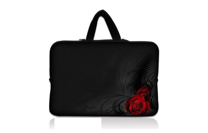 "Cool 17.3"" 17.4"" 17"" Rose Laptop Carrying Notebook Case Sleeve Cover Bag With Handle Pouch Prtector Holder"