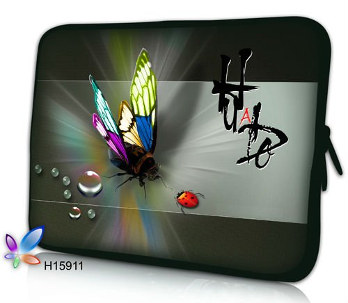 """Free Shipping,Smart Butterfly Design 15""""15.6"""" Laptop Sleeve Bag Cover Pouch Case For Dell Asus"""