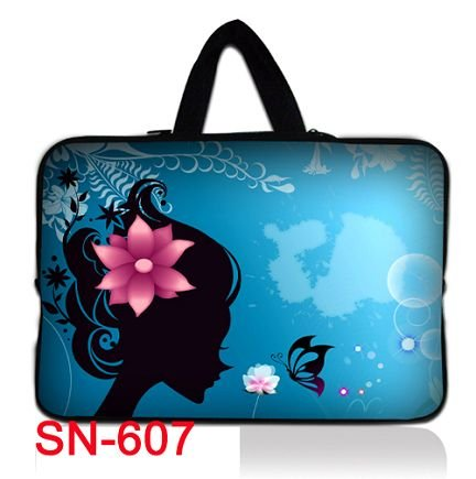 """Elegant Lady 13"""" 13.3"""" Neoprene Blue Laptop Sleeve Netbook Pouch Cover Holder Case Bag Protector Handle Waterproof Dustproof"""