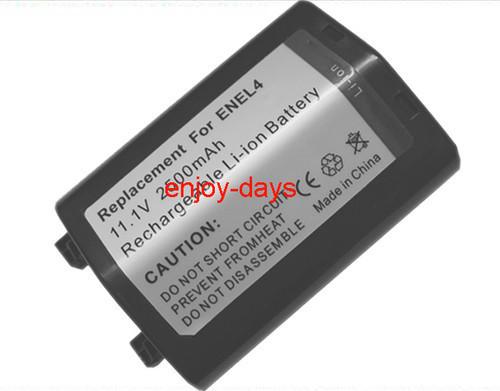 Free shipping New High Quality (2pcs/lot) Replacement batteries EN-EL4 ENEL4 For Nikon D2H D2X D3S F6 video camera
