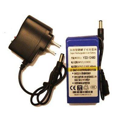 DHL    shipping 20pcs/lot   12V Rechargeable Li-ion battery For CCTV Camera 4800mAh