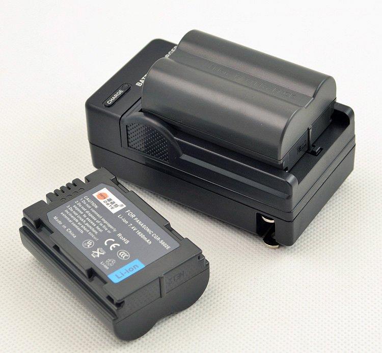 Free Shipping 2PCS 1650mAh  Battery  for Panasonic CGR-S602E S602E + Charger DC60