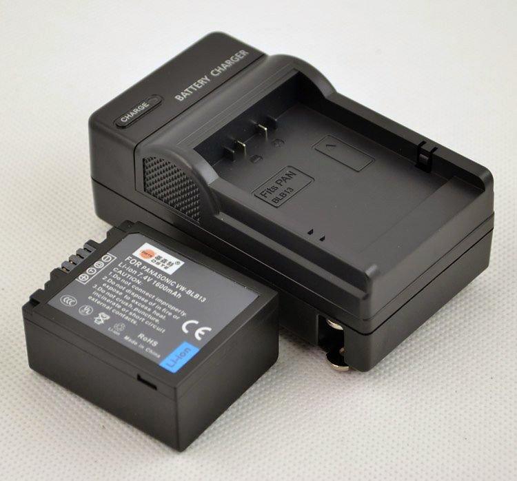 DSTE 1600mAh Battery VW-BLB13 BLB13 + Charger DC67  for PANASONIC DMC-G1 G10 GF1GH1