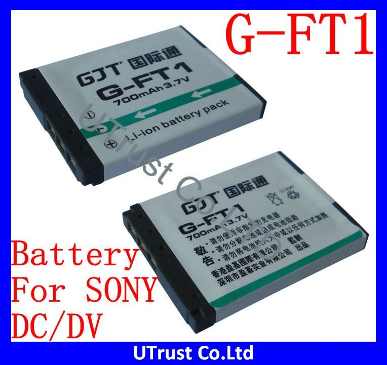 Free shipping 2pcs/lot New NP-FT1 Rechargable Li-ion Digital Camera Battery with 3.7V 700mAh For SONY Digital Camera