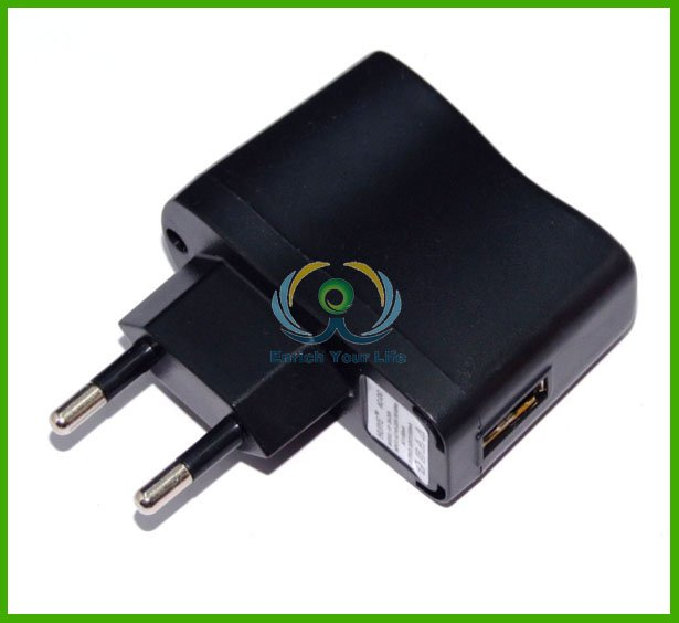 Freeshipping EU 5V 500mA USB Wall Charger Adapter Adaptor For wholesale & Dropshipping