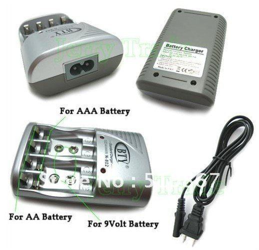 Ni-MH Ni-Cd Li AA AAA 9V Rechargeable Battery Charger