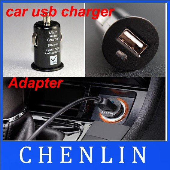 Wholesale Free shipping BELKIN Mini Car USB Charger Adapter MP3  200pcs/lot