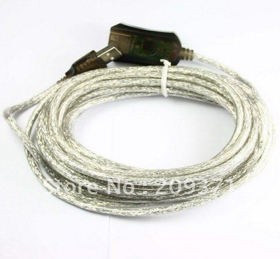 10pcs/lot  16 Ft 5M Male to Female Active USB 2.0 Extension Cable