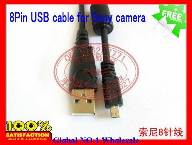 New Arrival  10pcs/lot USB Digital Camera Data Cable for Sony Camera DSC-A100 A200 A300 A350 A700 A900