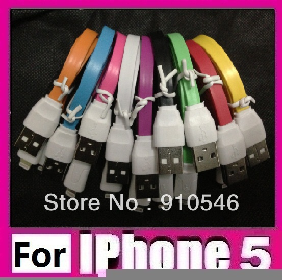 1m 3ft flat noodle usb data cable & charge cable 8pin lightning cable for apple iphone 5 for ipad 4 ipad mini for itouch 5