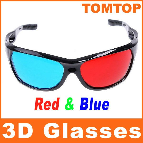 Red and Blue 3D Glasses 3D moive game TV video glasses 3D anaglyphic Movie DVD Game glasses,free shipping