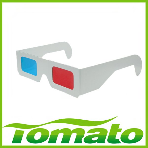 Hot sale 100pcs/lot,Free shipping White Paper 3D Glasses For 3D movies, 3D books, 3D games, 3D medical equipment