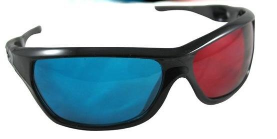 10pcs/lot3D glasses/Re-useable Plastic Frame Resin Lens Anaglyphic Blue&Red 3D Glasses/Plastic Glasses Red/Cyan free shipping