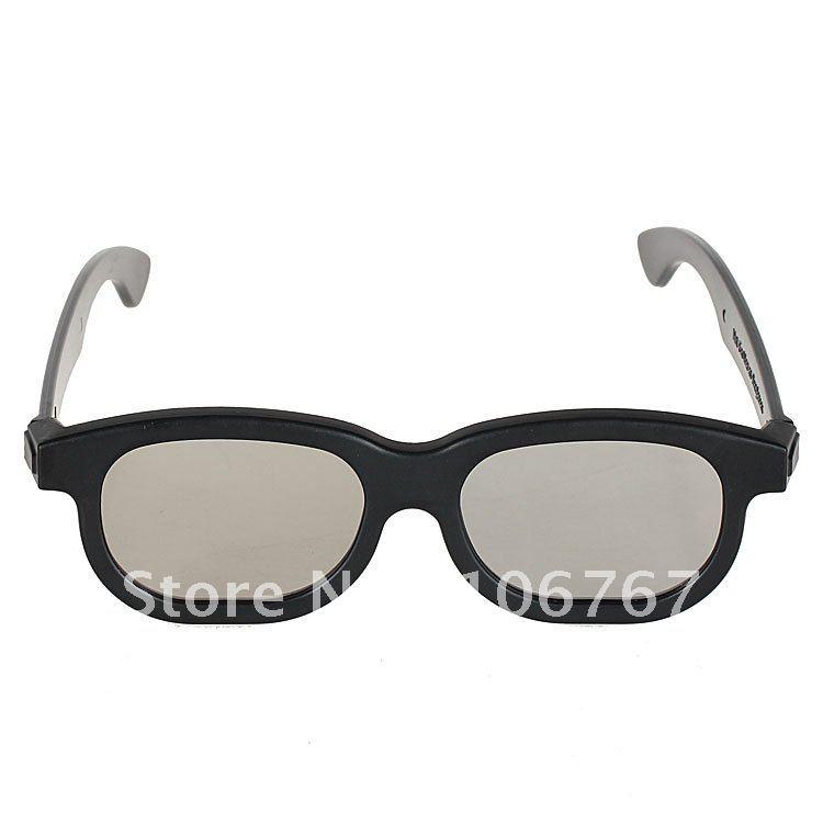plastic frame circular polarized 3D glasses polarized 3d circular cinema glasses for real d and masterimage
