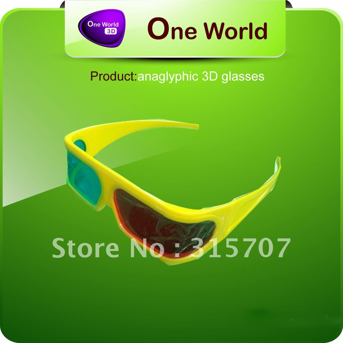 Red & Blue Re-useable Style Plastic Frame anaglyph green magenta 3d glasses+Gift & Free Shipping