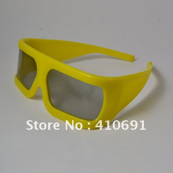 Wholesale Free Shipping Integrated Streamlined Design Plastic 3D Circular Polarized Glasses