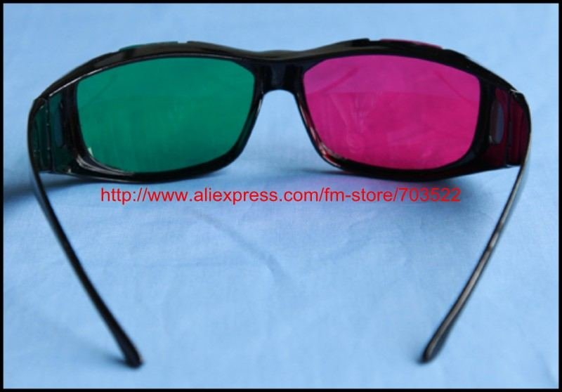 Free shipping+plastic frame 3D glass Red blue 3D stereo glass/3D glasses for 3D film Avatar