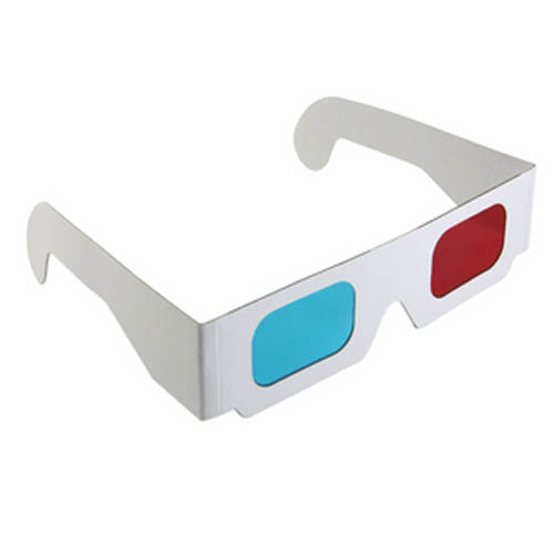 Paper 3d glasses red and blue