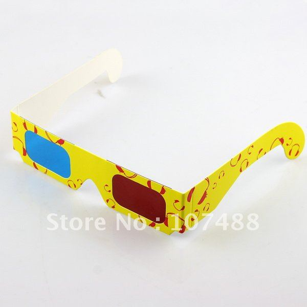 Hot Free Shipping 10/pcs RED BLUE 3D Dimensional Anaglyph Glasses Game Movie