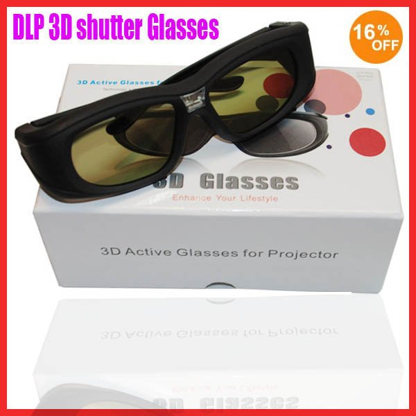 DLP Link 3D Glasses for DLP Projector and DLP Link 3D TV  Free shipping! 16% discount!