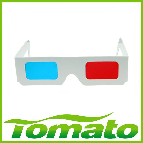 Hot sale 500pcs/lot, EMS Free shipping White Paper 3D Glasses For 3D movies, 3D games Support Drop Shipping