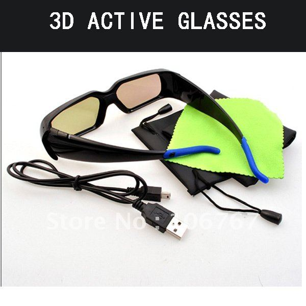 free shipping 4pc/lot universal infrared 3d active shutter glasses for all brands IR 3d hd tv philips 46 PFL 5507