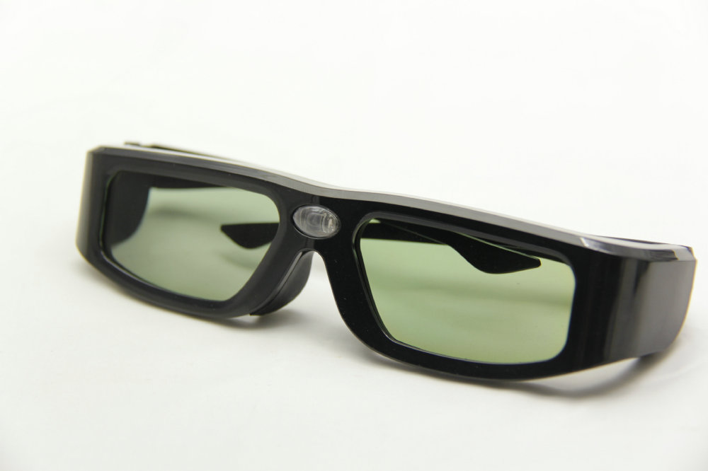 free shipping +dropping 2pc/lot dlp link 3d shutter glasses for dlp link projector