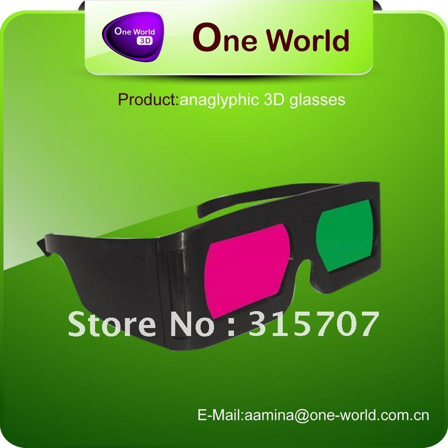 Wow !Stock selling Red cyan 3d glasses+Free shipping