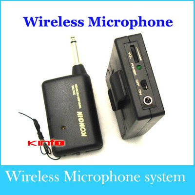 Free shipping !!! wholesale / One year warranty /Mini Tie Clip-on Mic Microphone Wireless Receiver