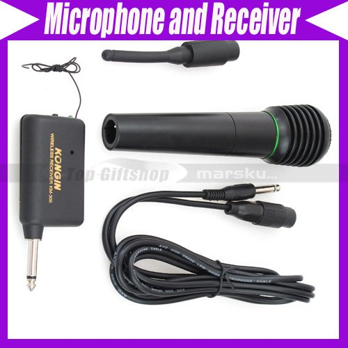 Handheld Wired Wireless MIC Microphone and Receiver NW V1353