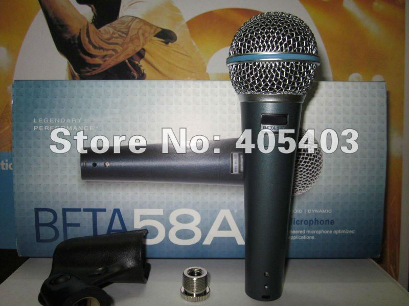 Free shipping TOP Quality with new package Beta58 / beta 58 Vocal Dynamic Wire Microphone  58a