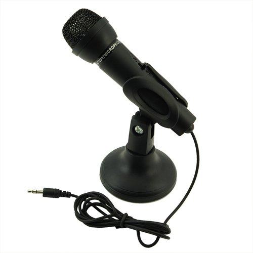Black 3.5mm Mini Studio Speech Mic Microphone w Stand
