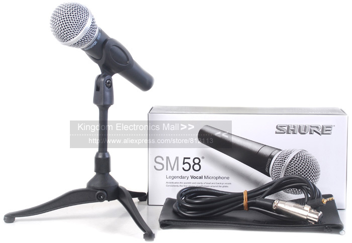 Free-Shipping! Top Quality SM58 SM58LC Unidirectional Dynamic Vocal Wired Microphone SM 58 58LC Mike With Bright Clear Sound!