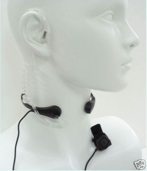 Throat Microphone with PTT button for TK Port  walkie talkie/two way radio UV-5R/UV-3R+Plus/TG-UV2 ZT-V180