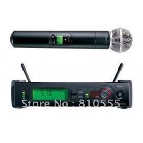 Free shipping U-band  SLX24 handheld  Wireless Vocal Mic System SLX24 / Beta58 microphone