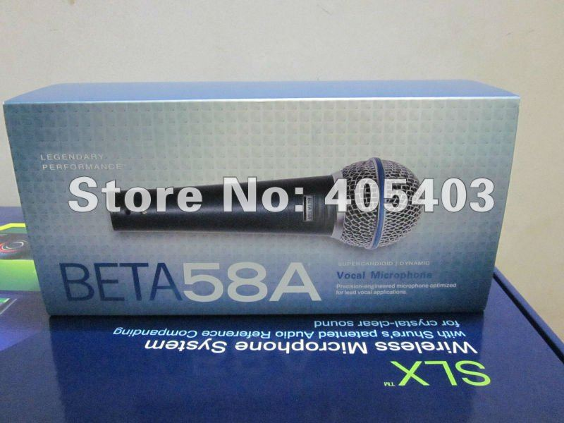 Free shipping 3pcs/Lots TOP Quality with new package Beta58 / beta 58 Vocal Dynamic Wire Microphone  58a