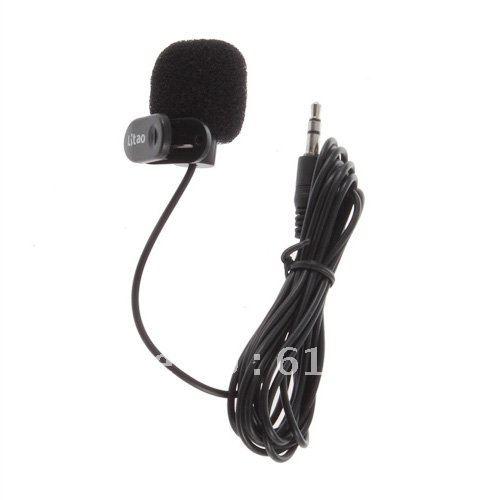 10pcs/lot  3.5mm Mini Studio Speech Lapel Mic Microphone w/ Clip for PC Desktop Notebook