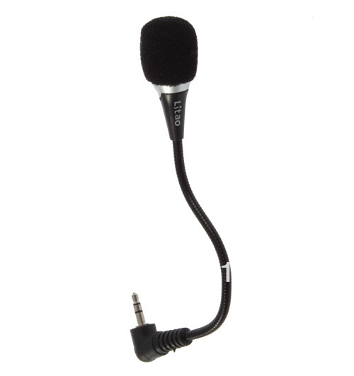 Black 3.5mm Audio Microphone Mic For Laptop Netbook 100% Brand New