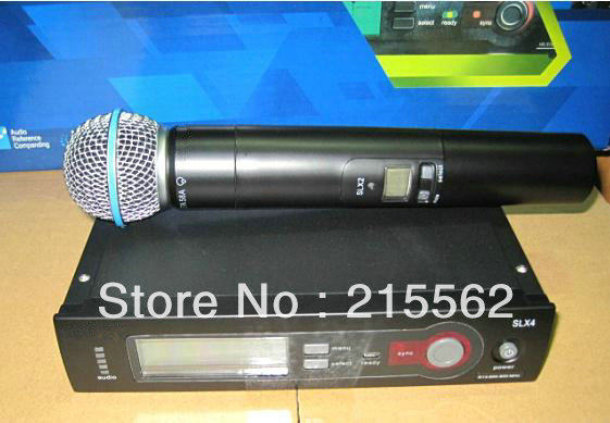 Free shipping  UHF  SLX24 Beta58 Wireless handheld  Vocal microphone System