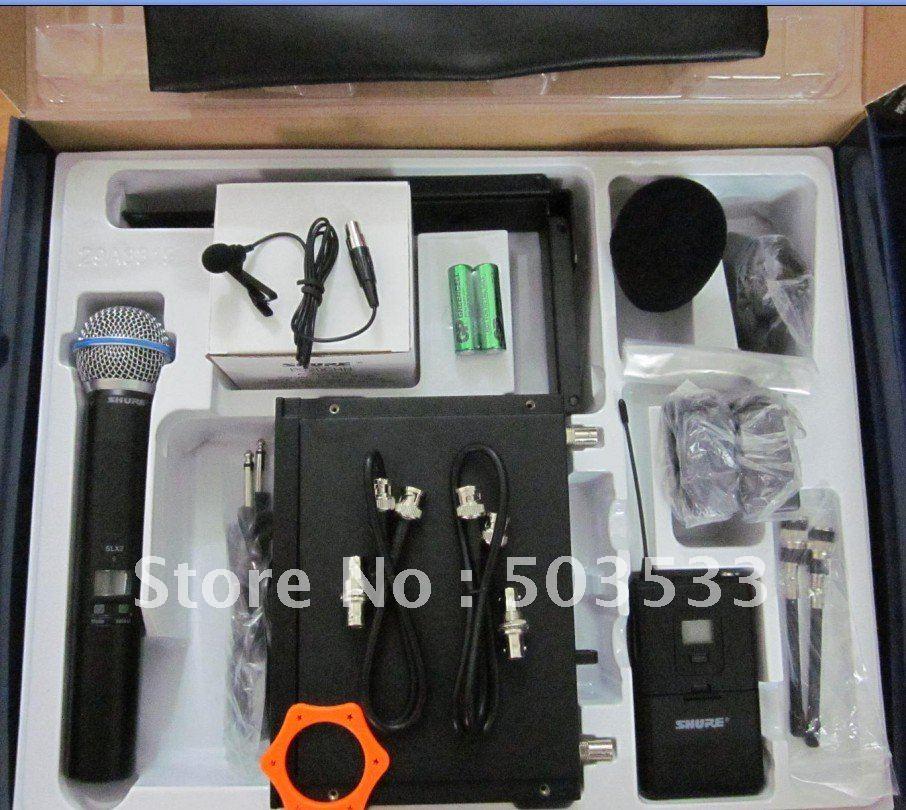 Free shipping SLX24  BETA58  microphone wireless handheld +  headset + Lapel Set   microphone system