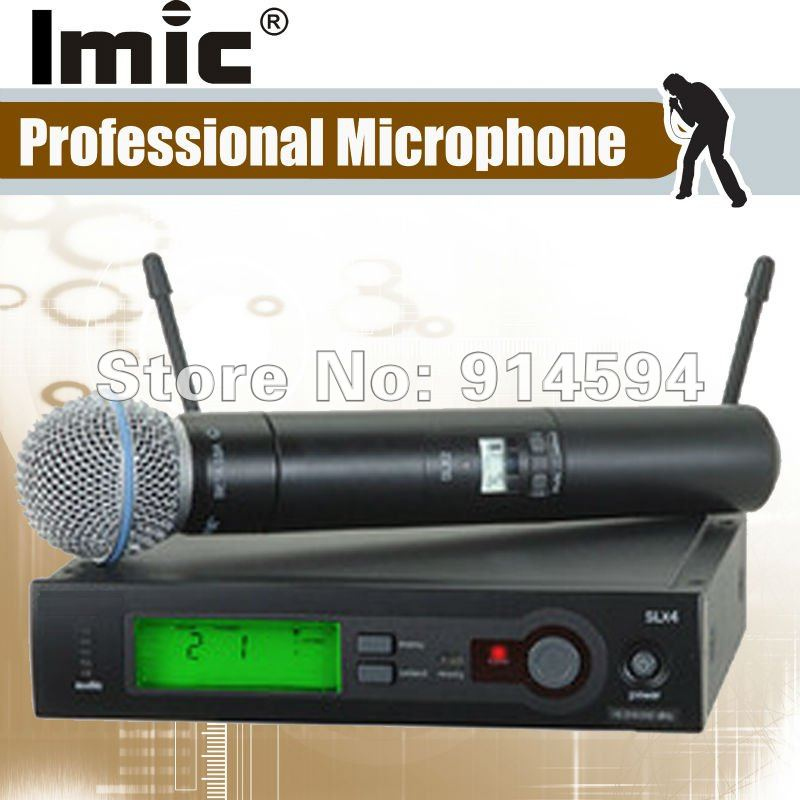 Fastest delivery , Good quality, Whole/ Retail sales S-L-X 24 UHF Single 58 Handheld Transmitter  Karaoke vocal Microphone