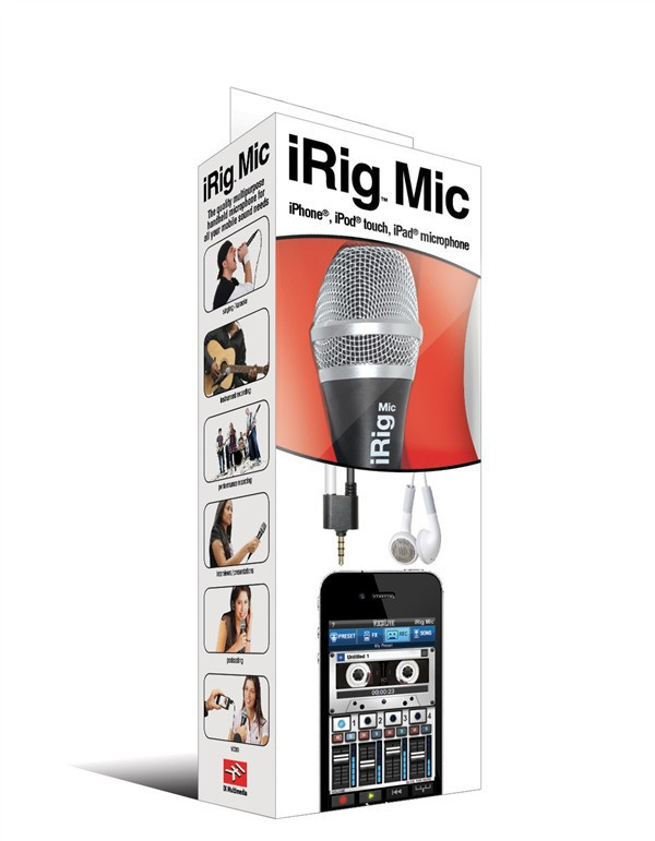 Free Shipping  Via DHL 10pcs Wholesale Multimedia the first handheld Mic Microphone for iPhone / iPad / iPod Touch