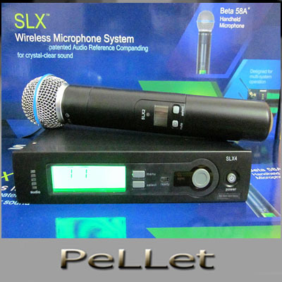 SL24 wireless microphone handheld  Vocal Mic System LCD display UHF  microphone,free shipping