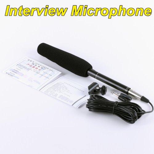 High sensitivity Professional  Uni-Ultra-directional Shotgun interview Microphone conderser free shipping