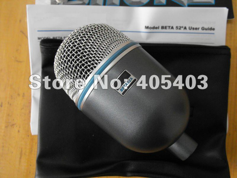 Free Shipping New boxed BETA52  Vocal Instrument Kick Drum Bass Microphone Professional sound system without switch 52A