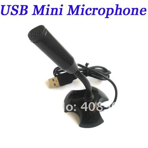 Free shipping! New High quality USB Mini Professional recording Microphone for PC laptop MAC studio