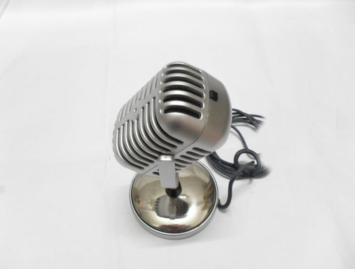 Free Shipping 1pcs Microphone Stereo Laptop,classic silver computer Microphone,Retro vintage personalized Microphone wholesale