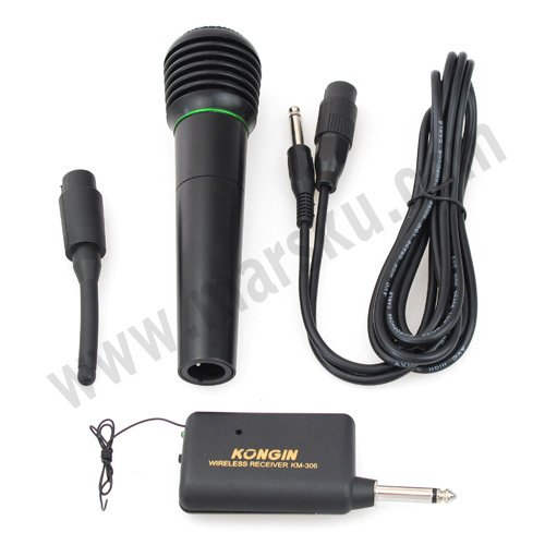 10pcs/lot  Handheld Wired Wireless MIC Microphone and Receiver NW Free shipping with Tracking Number 1353